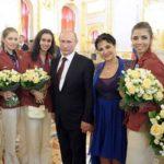 President Putin and a team of gymnasts in the Kremlin, Evgenia Kanaeva, Irina Viner, President Putin