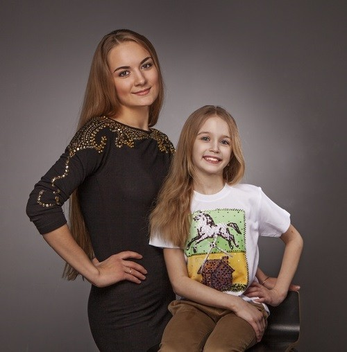 "Diana Bondarenko with her mentor (modeling agency ""Triumph"") Antonina Tregubova"