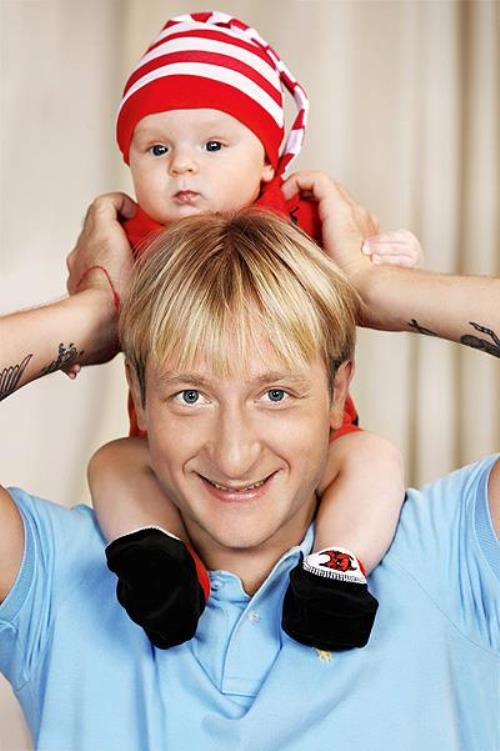 Evgeni Plushenko with his son Alexander