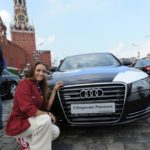 On Red Square. Evgenia Kanaeva
