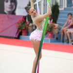 Doing gymnastics, Evgenia Kanaeva