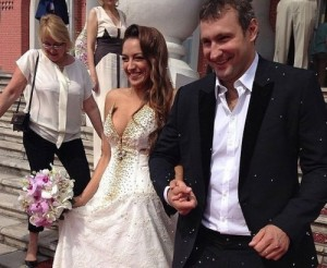 On the wedding day. Evgenia Kanaeva and Igor Musatov