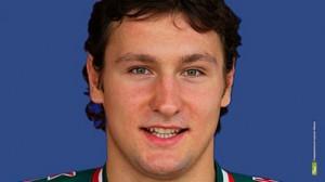 "player of hockey club ""Salavat Yulaev"" Igor Musatov"