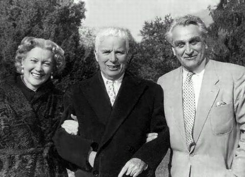 Lyubov Orlova, Charlie Chaplin and Grigory Alexandrov