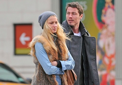 Marat Safin and Anna Druzyaka. Walking in New York City