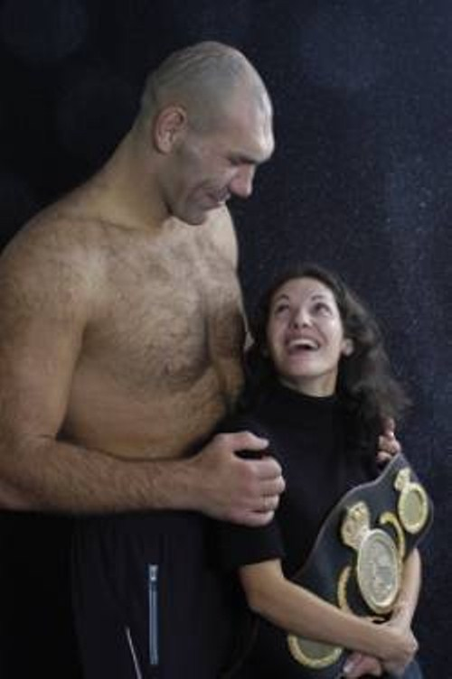 Nikolai Valuev with his wife Galina