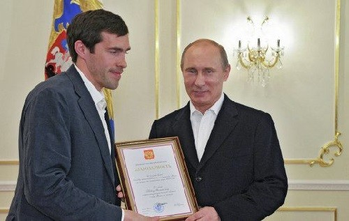 Pavel Datsyuk and Vladimir Putin