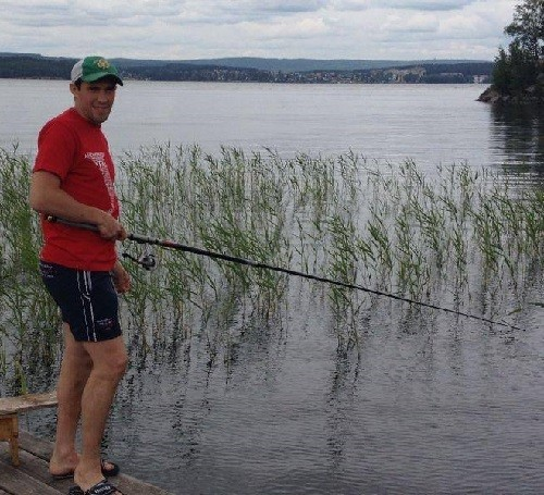 Pavel Datsyuk's favorite hobby - fishing