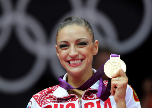 Gymnastic Olympic champion Yevgeniya Kanayeva