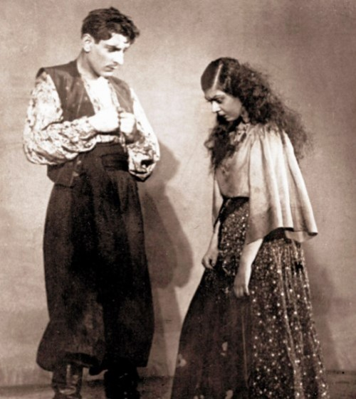 A scene from the play 'The Gypsies'