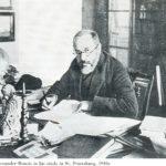Alexander Benois in his study in St. Petersburg. 1910s