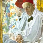Alexander Golovin. Portrait of the stage Director Vsevolod Meyerhold. 1917. Tempera on panel. Theater museum, St. Petersburg