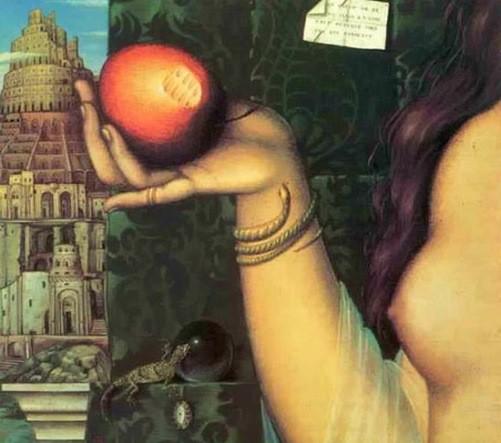 Russian artist Aleksei Tivetsky. Beyond Temptation, oil