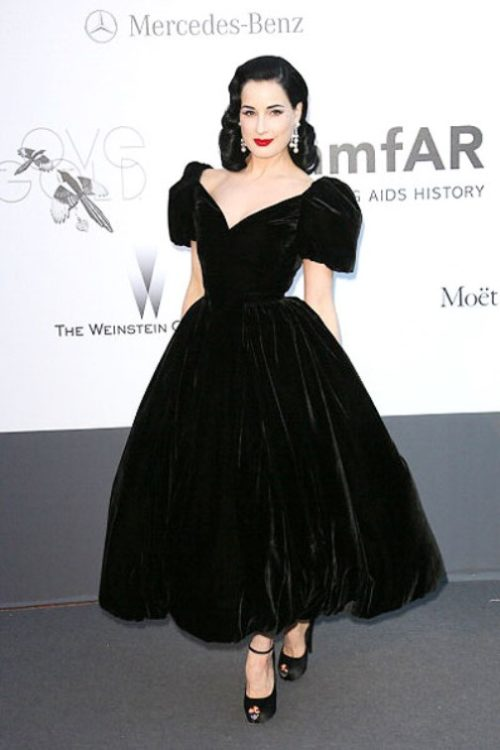 Dita Von Teese at the amfAR charity event in Cannes 2013