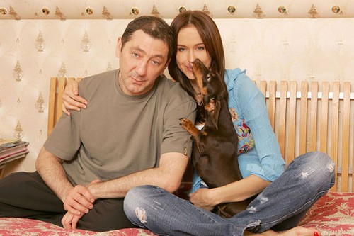 Grigory Leps and his wife Anna