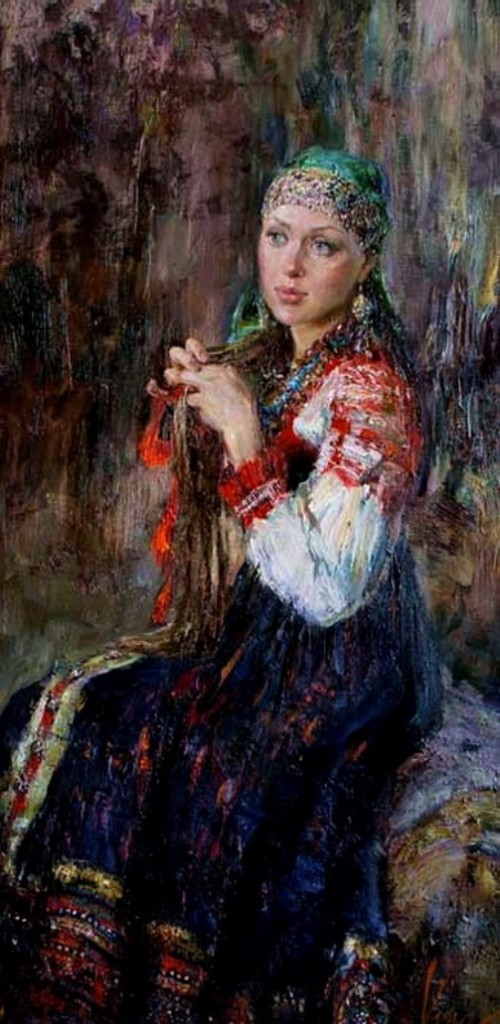 Girl with scarlet ribbon