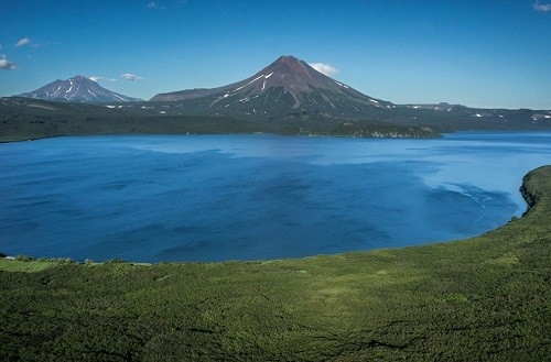 Ilyinsky sopka - inactive stratovolcano located in the southern part of the Kamchatka Peninsula near Kurilsky Lake