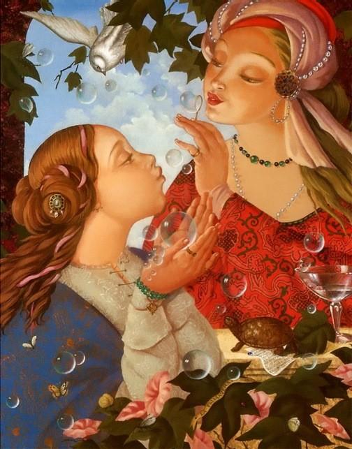 Russian artist Aleksei Tivetsky. La Primavera, oil