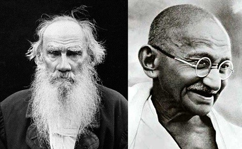 Leo Tolstoy and Mahatma Gandhi