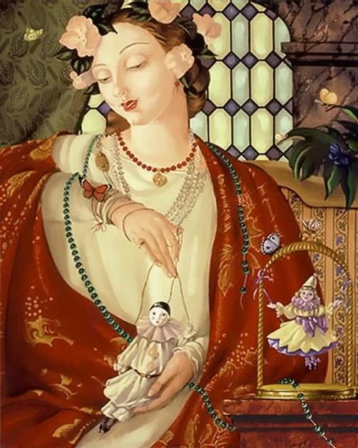 Russian artist Aleksei Tivetsky. Mon Ami, oil