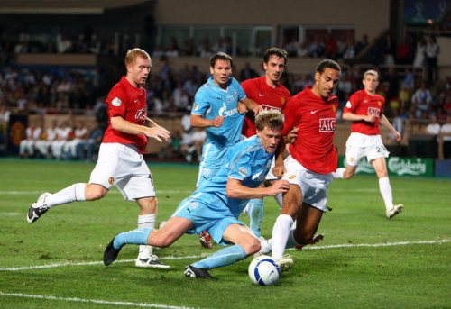 Pavel against Manchester United in the Super Cup final