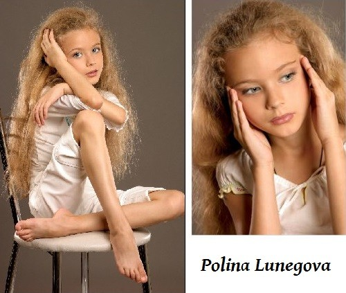 Russian actress Polina Lunegova
