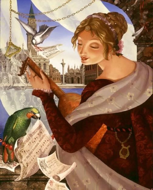 Russian artist Aleksei Tivetsky. Rondo Venezia, oil