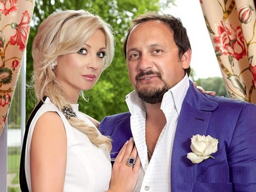 Stas Mikhailov and his wife Inna