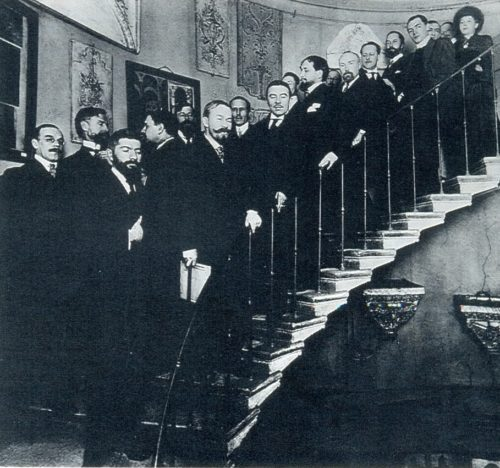 The annual meeting of the World of Art. Petrograd, 1914 (the image can be enlarged)