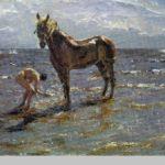 Valentin Serov. Bathing the horse. 1905. Russian Museum, St. Petersburg