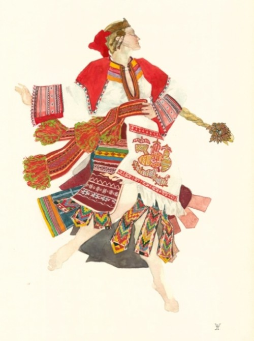 folk costume sketches
