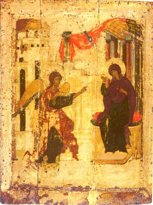 Annunciation. Andrei Rublev, 1405. Icon. Annunciation Cathedral of the Moscow Kremlin