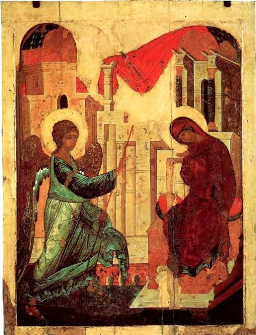 Annunciation. Andrei Rublev and Daniil Cherny workshop. 1408