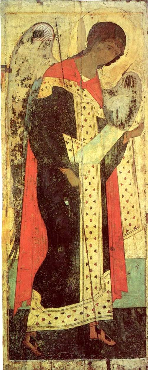 Archangel Michael. Andrei Rublev and Daniil Cherny workshop. Moscow School. 1408