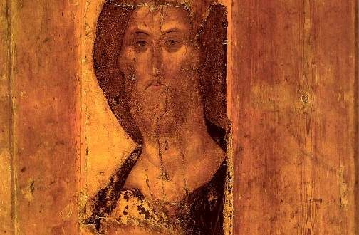 Russian painter of Orthodox frescoes and icons Andrei Rublev