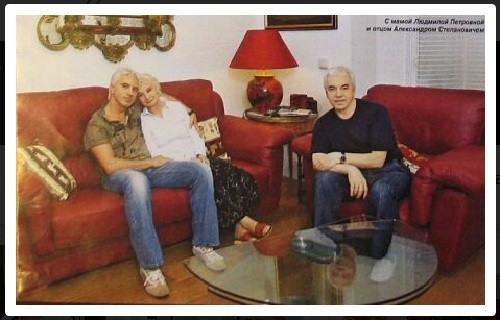 Dmitri Hvorostovsky with his parents