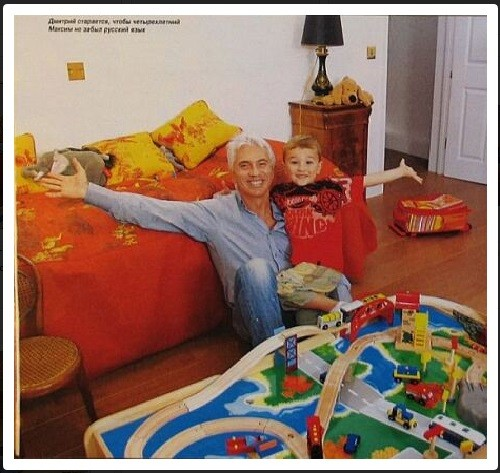 Dmitri Hvorostovsky with his son