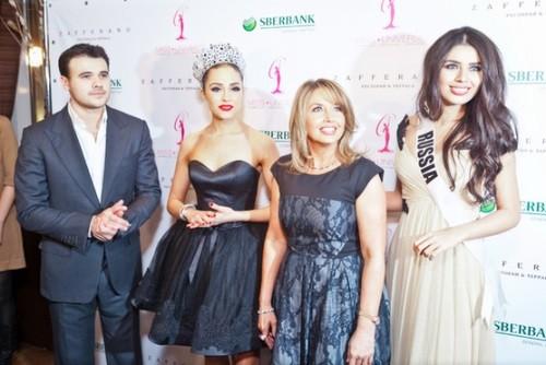 Emin Agalarov, Olivia Culpo 'Miss Universe 2012', Paula M. Shugart and 'Miss Russia 2013' Elmira Abdrazakova