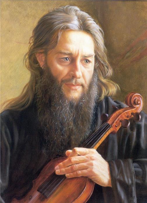 Abbot Zinoviy, 1991. painter Alexander Shilov