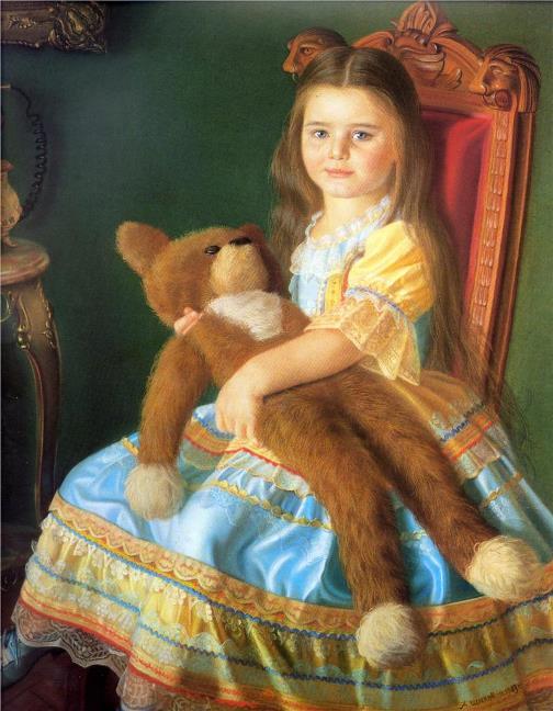 Masha Shilova, 1983 (daughter of the artist). painter Alexander Shilov