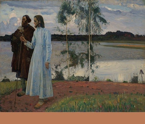 Mikhail Nesterov 'Wanderers. Beyond the Volga'. Sold at MacDougall's auction for £ 1,89 mln