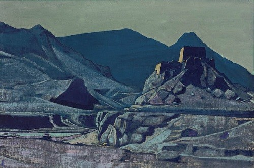 "Nicholas Roerich ""Sanctuaries and Citadels"", painted in India in 1925"