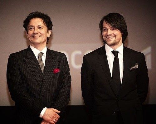 Oleg Menshikov and Danila Kozlovsky, at a premiere Legend 17