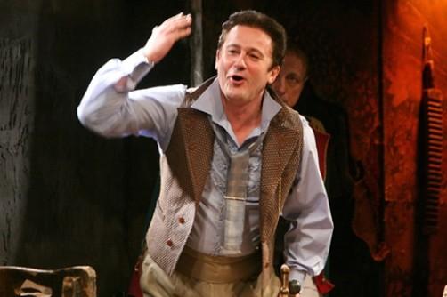 Oleg Menshikov in the play 'Players'