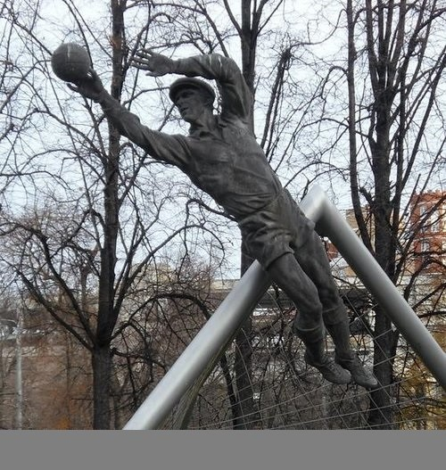 On the alley at Luzhniki Sports Hall of Fame in 1997, and at the central stadium Dynamo in 1999 were established the monuments to Lev Yashin. Work by sculptor A.I. Rukavishnikov