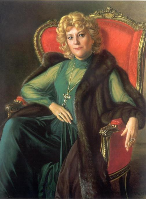 Opera singer Elena Obraztsova, 1987