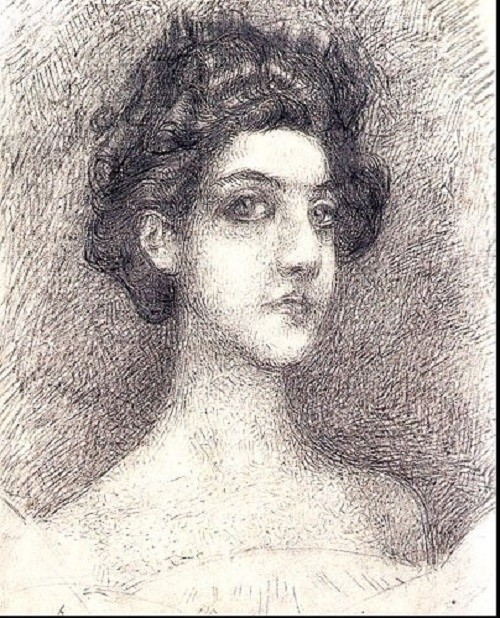 Portrait of Nadezhda Zabela-Vrubel, 1904