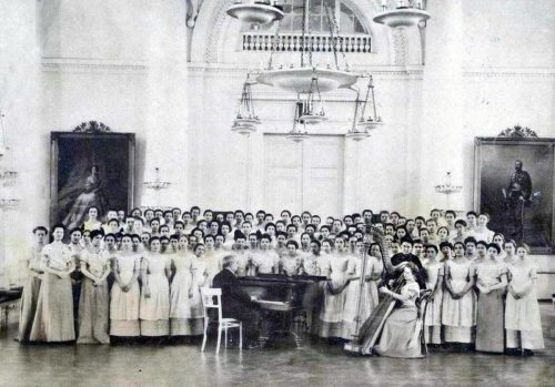 The choir in Smolny Institute for Noble Maidens