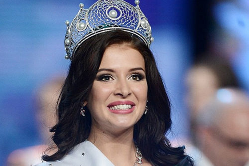 Russian winners of world beauty contests. Sofia Nikitchuk, a 21-year-old student from Yekaterinburg.