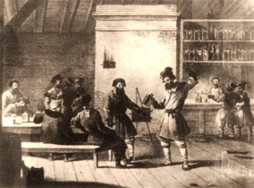 1533 - In Moscow, opened its first 'Tsar's tavern' where alcohol was poured, including vodka. During the reign of Ivan the Terrible taverns were very common